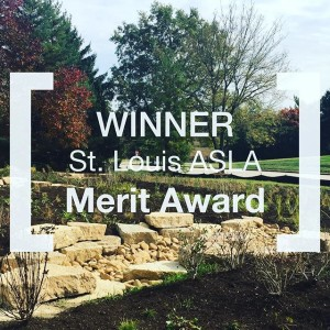 We took home the honor of a award from @stlouisasla for our work on a new kind of raingarden for @monsantoco. We are actively experimenting with to create productive and successful stormwater filtration for this major corporate campus. To #innovation!