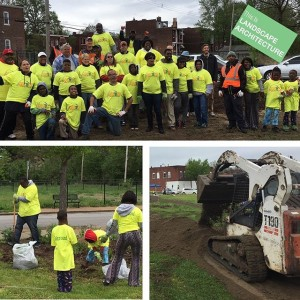 It's and that means even more impetus for the @dtlsstudio crew to #GetOutside! Today we were supported by #MunieGreencare, @stlcomposting @brightsidestl, and the @wustl_official Gephardt Institute for the Phase II of the at in #northstlouis. Through generous donations we received soil, compost, and plant material to help beautify this corner of the neighborhood.