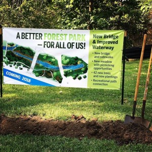 Nothing like the scent of freshly dug earth on a Monday! It's day at @forestparkforever and we couldn't be prouder of our work on and the with @ch2mhill.