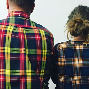 Business in the front, in the back. @plaidurday . . . . .